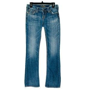 Silver Pioneer Low Rise Boot Cut Denim Jeans 28/33